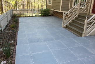 """Slate"" Concrete Patio Makeover"