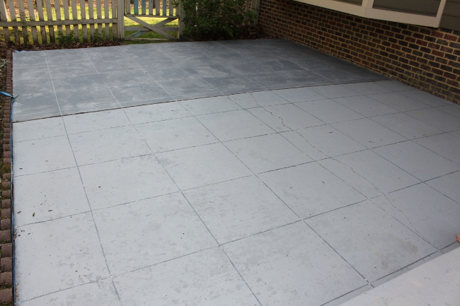Slateu201d Concrete Patio Makeover U2013 R U L Y
