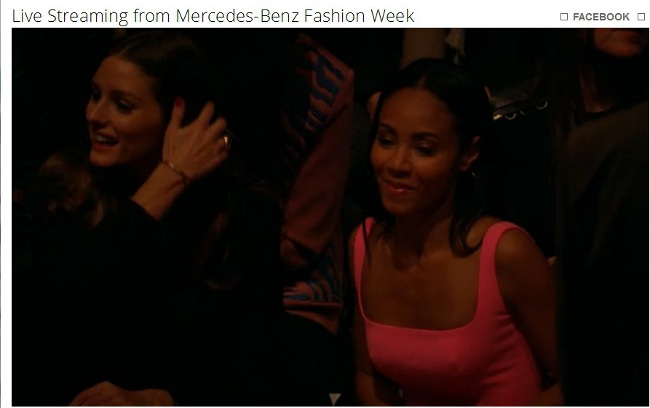 Jada Pinkett-Smith admirably demonstrated how to be cool at a fashion show.  Look like you are enjoying yourself and chat with those around you!