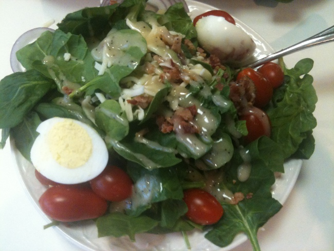 . . . and more salad.