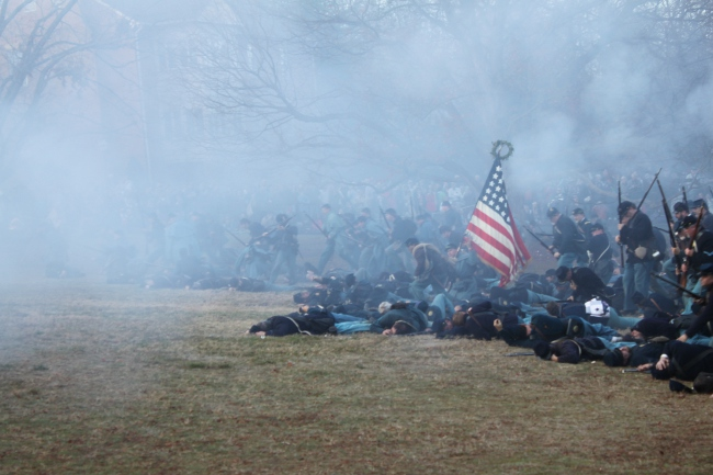 A scene from the reenactment of the Battle of Fredericksburg, December 2012.