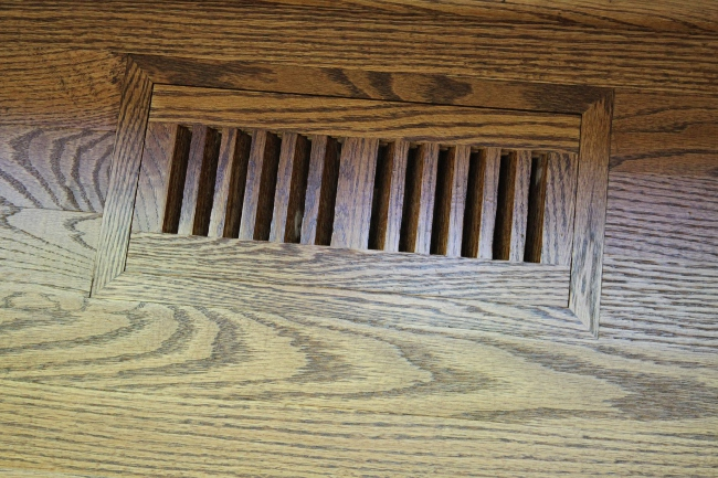 My favorite part of this project is the brand new, flush-mount, stained-to-match floor vents.  Gorgeous!