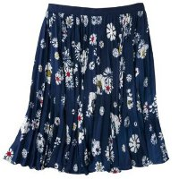 Jason Wu for Target Navy Floral Pleated Skirt