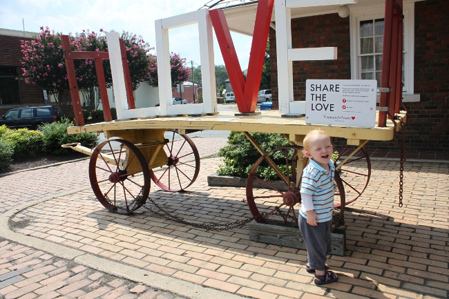 Do we love Virginia?  Yes, we do!  Discovering the Love wagon in Ashland.