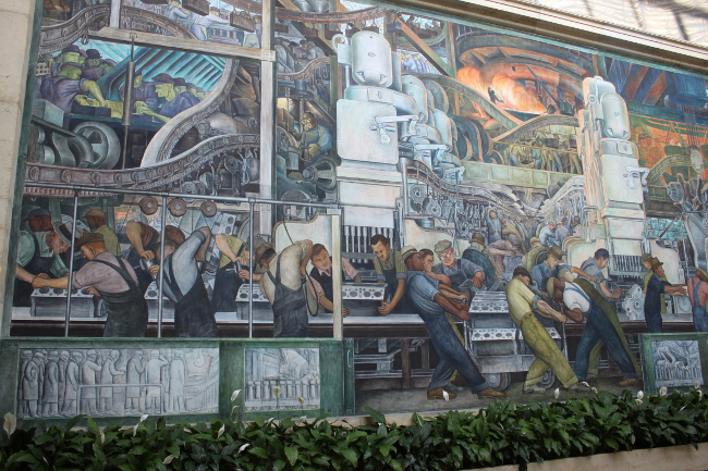 Ruly holiday road trip day two detroit and chicago r u l y for Diego rivera mural chicago