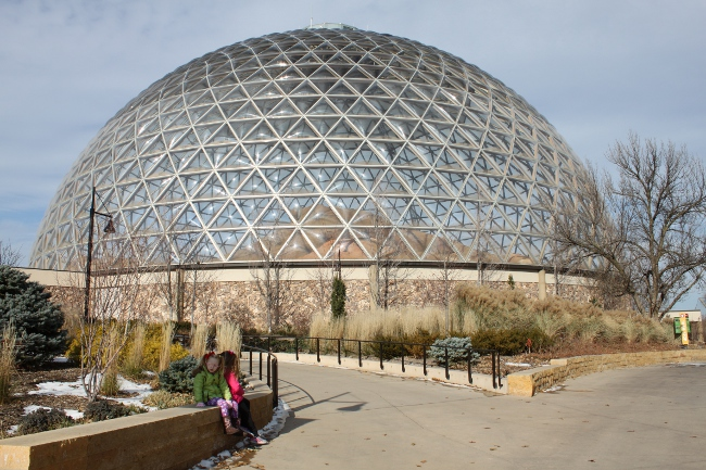 The Omaha Zoo's desert dome--the largest geodesic dome in the world!