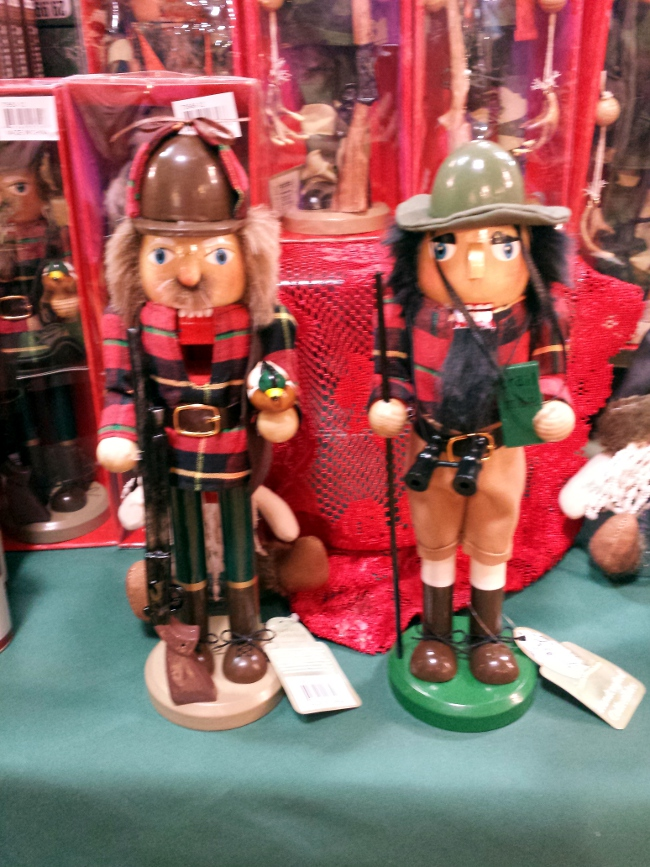I still regret not buying one of these hunter-themed Nutcrackers.  So creative!