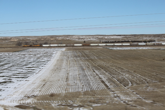 There are two distinctive landscape features that help you identify that you are in Nebraska . . . . trains