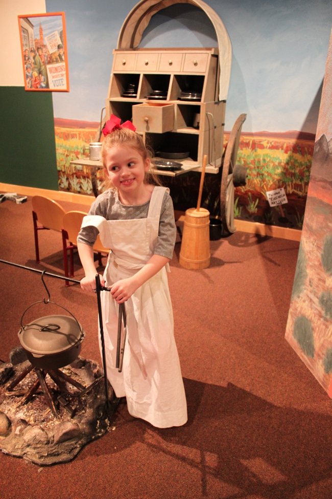 Another daughter was tending the home fires on the prairie.