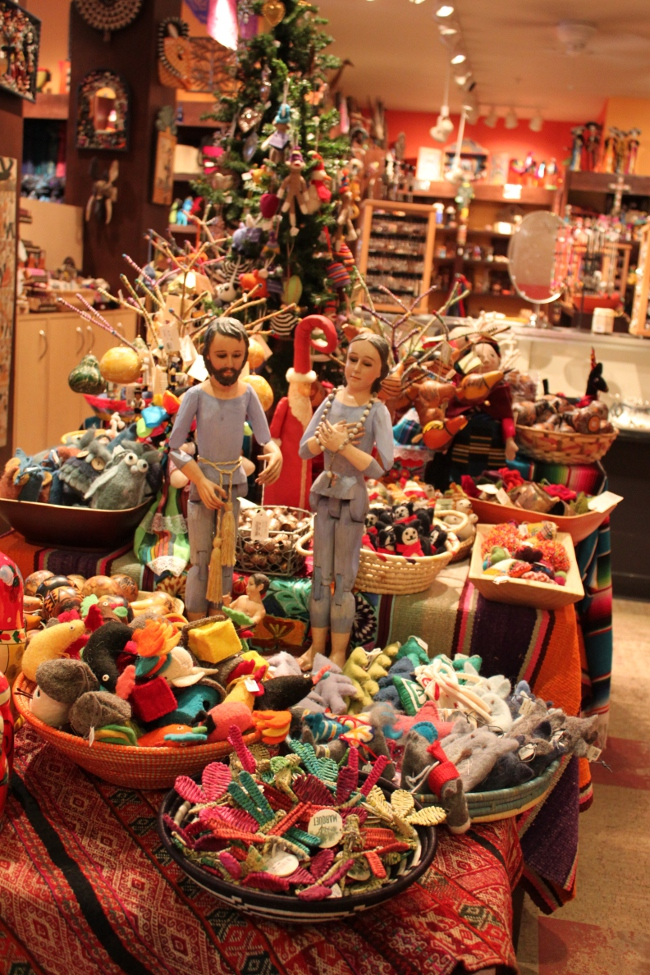 The unbelievable selection of holiday ornaments in the gift shop.