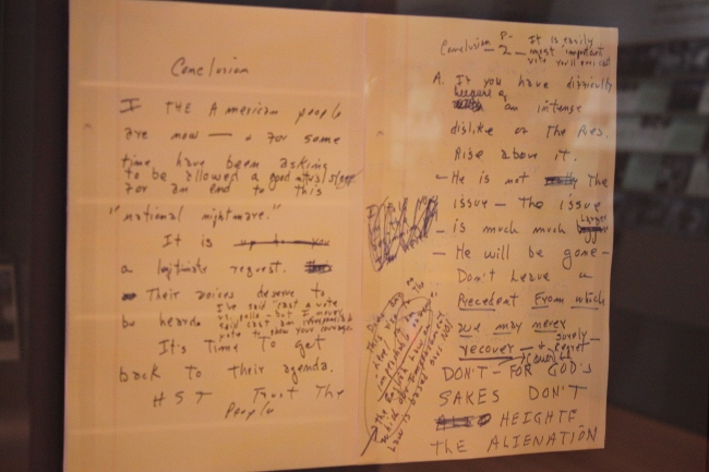 Page from Dale Bumpers' speech to Congress during President Clinton's impeachment trial.