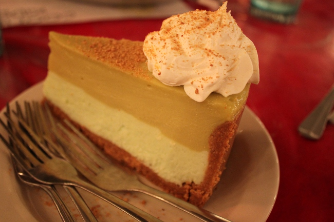 Cootie Brown's signature dessert: key lime pie.  It was just the right combination of tart and sweet.