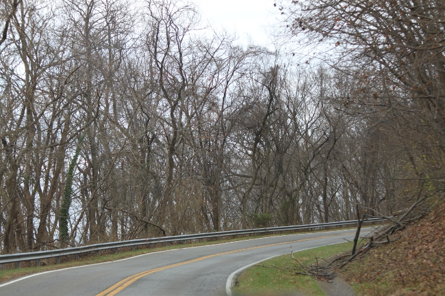 Up a winding road. . . .