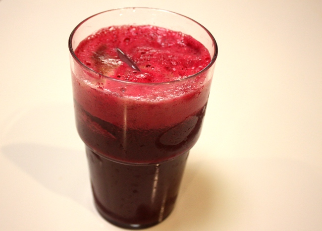 """Sunset Blend"" juice.  I love it!  It's delicious.  It's another sweet juice.  I knew that I would like it when I saw it had a sweet potato in it.  I also like beets, carrots and apples.  This one is a craveable juice.  I would make it again."