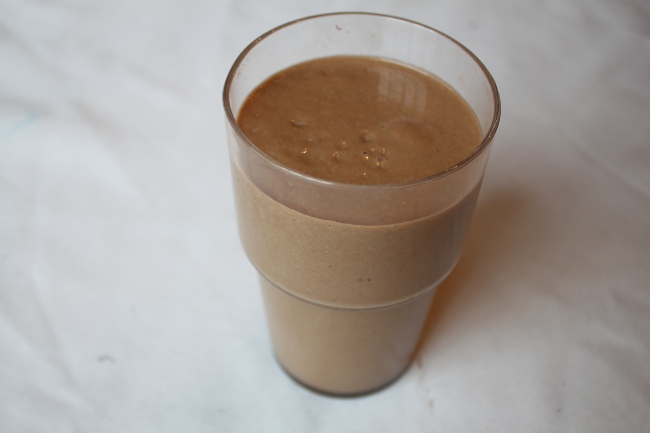 Avocado cacao smoothie.
