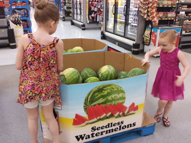 My biggest (literally) organizational challenge of late is how to manage all the watermelon we want to eat.