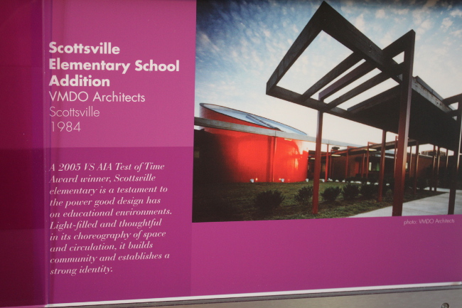 Gorgeous architecture was used in the renovation of an elementary school.  What a great learning environment!