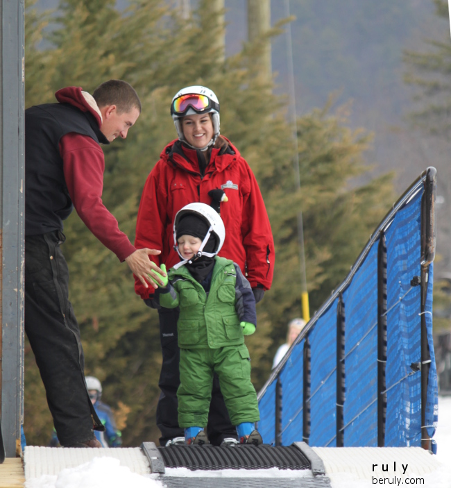 Next thing I know, he is high-fiving the lift operator!
