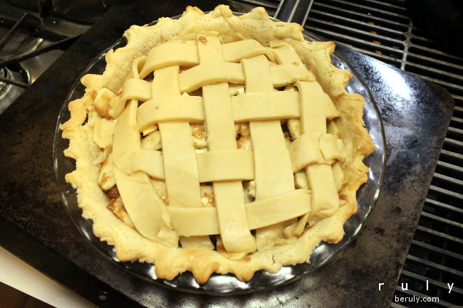 Lattice-topped apple pie...a classic.