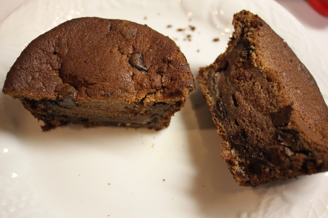 Chocolate banana bread muffins.