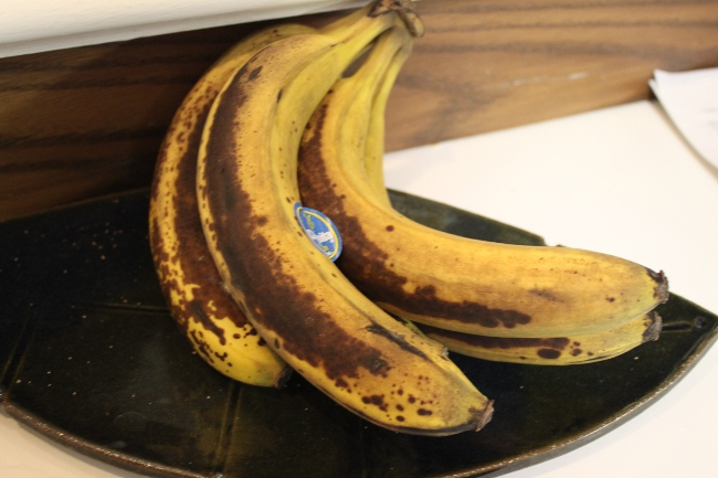 Yucky brown bananas.