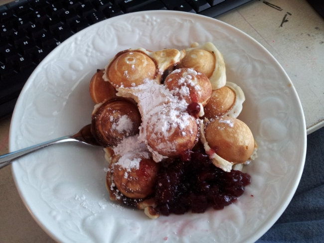 A super-delicious use of Bisquick is for abelskivers with powdered sugar and jam.  (We won't discuss the nutritional value of this dish.)  :)