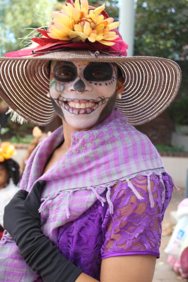 Lawanda Raines Giunti, stunning in her Dia de los Muertos costume.