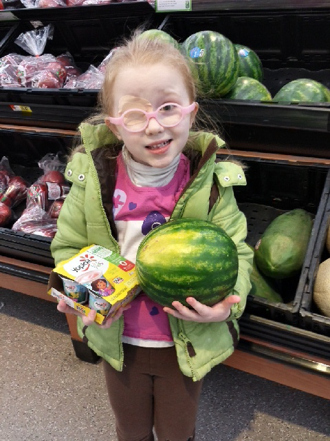 My other daughter requested watermelon.  She also suggested yogurt.