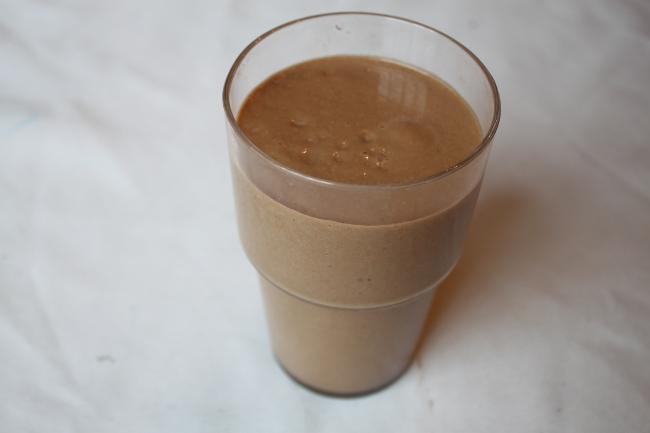 Avocado cacao smoothie.