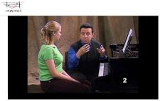 Screenshot from simplymusiconline.com lesson.