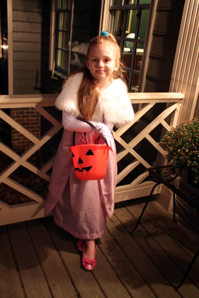 The look we used for Halloween trick-or-treating.
