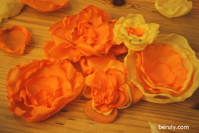 My daughter inspired me to combine the the petals in various combinations to create more interest.