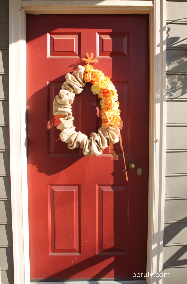 Our Thanksgiving friendly front door.