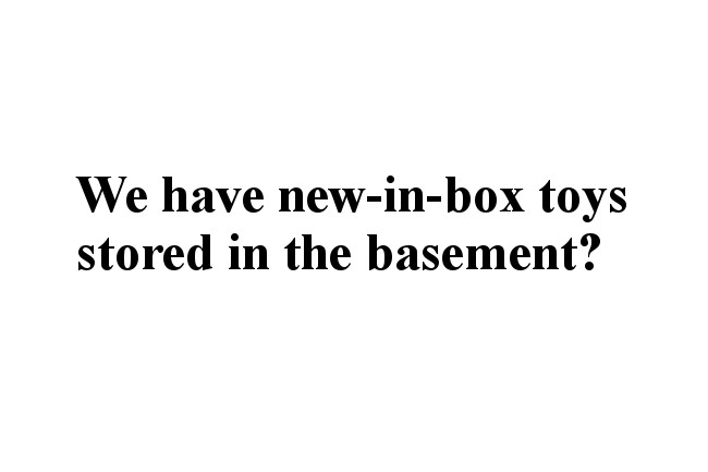 """""""We have new-in-box toys stored in the basement?"""""""