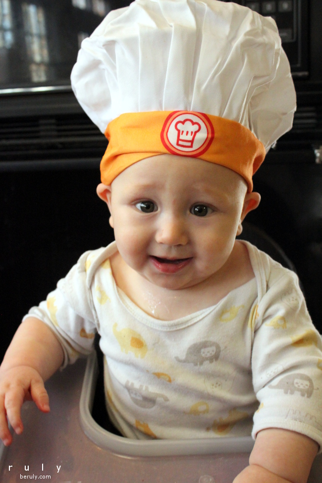 Celebrating his first Thanksgiving in the kitchen!