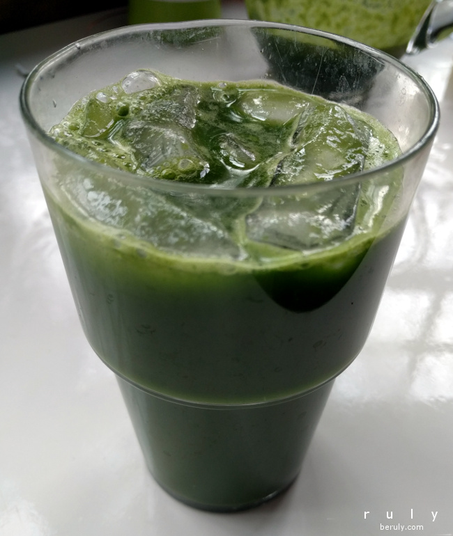 Morning Green Glory Juice.  This was my least favorite juice of the challenge.