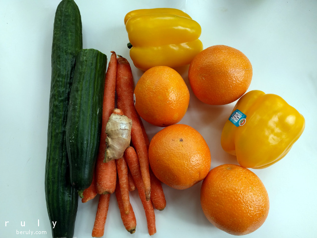 Ingredients for Radiant AntiOxi Orange