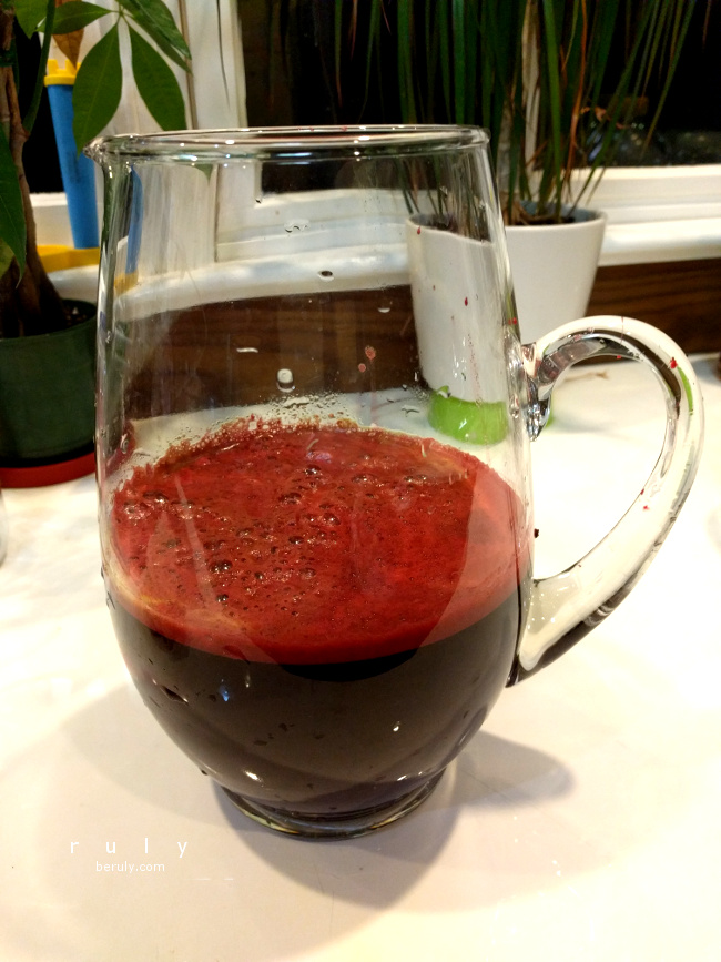 Anti Aging Beet Grape Juice.  I liked it!  Sweet.