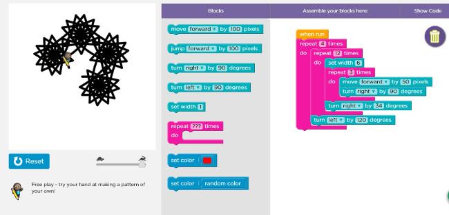 screenshot of learn.code.org assignment